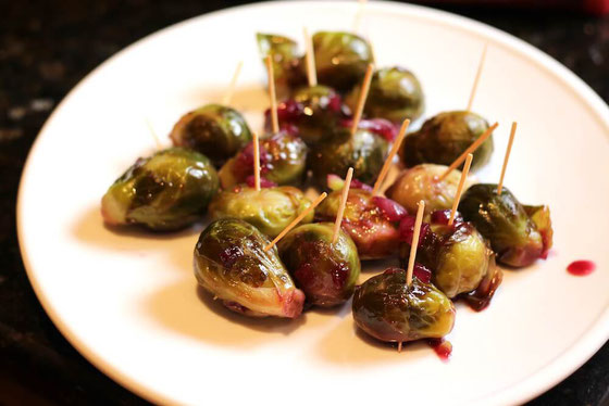 Brussels Sprouts with Grape Honey Glaze