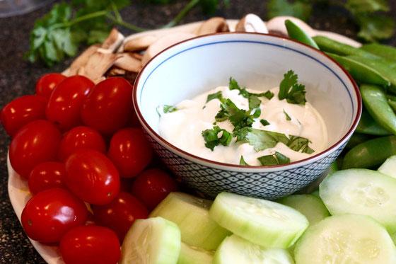Southwestern Greek Yogurt Dip with Crudites