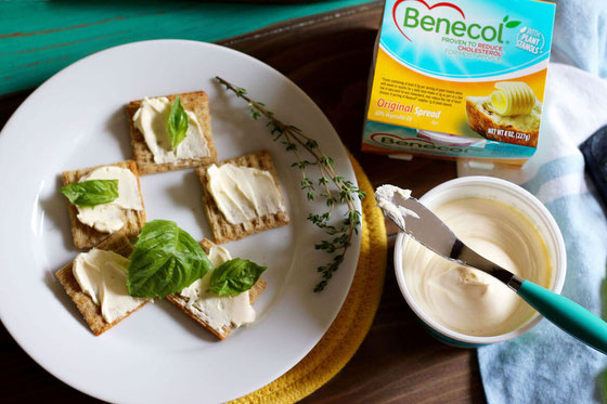 Benecol Buttery Spreads-Original-Stanol-Sterol-Cholesterol Reducing-Cracker Recipe