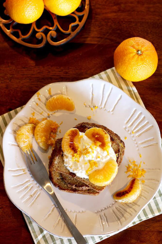 Halos Mandarin Orange French Toast