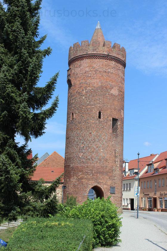 Historischer Stadtkern Beeskow Brandenburg Stadteingang Burgmauer