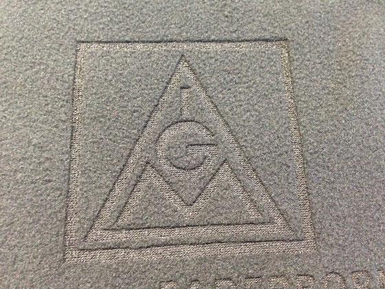 Schal aus Fleece mit Lasergravur / Fleecegravur von biasto-laserdesign