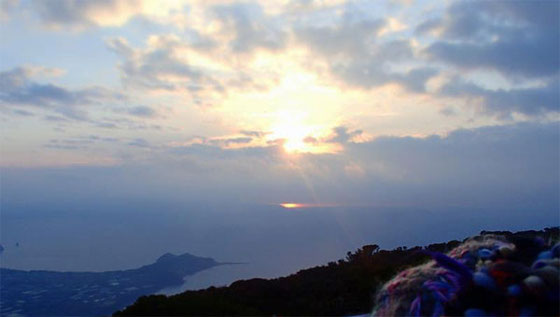 2013年 開聞岳の初日の出