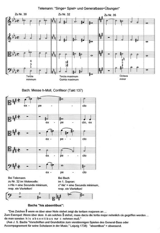 Telemann, Singe- Spiel- und Generalbassübungen