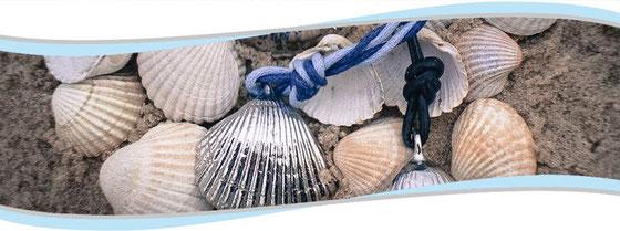 Inselherz-Design - Silberschmuck nach Original Ostseemuscheln