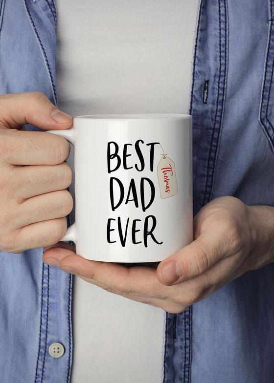 Tasse für Papa mit Namen