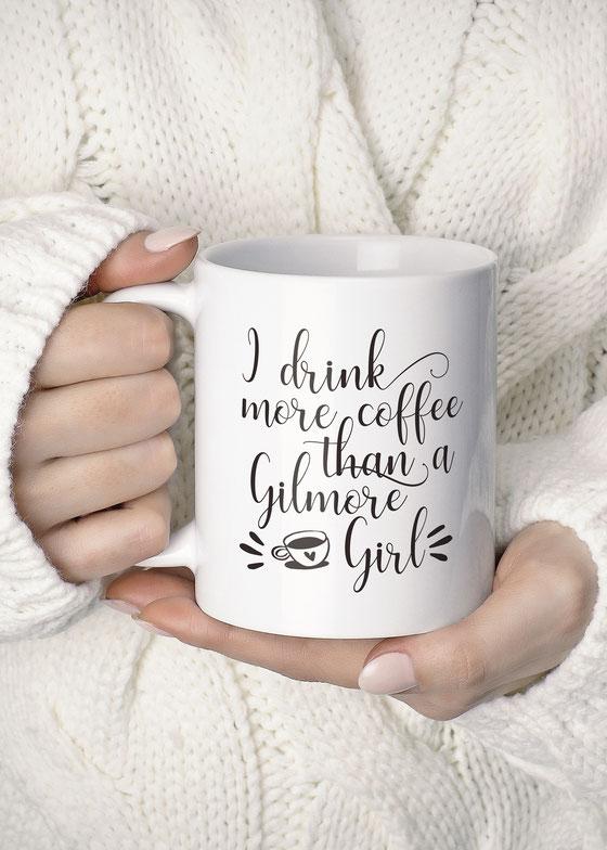 Bedruckte Tasse mit Spruch Gilmore Girl