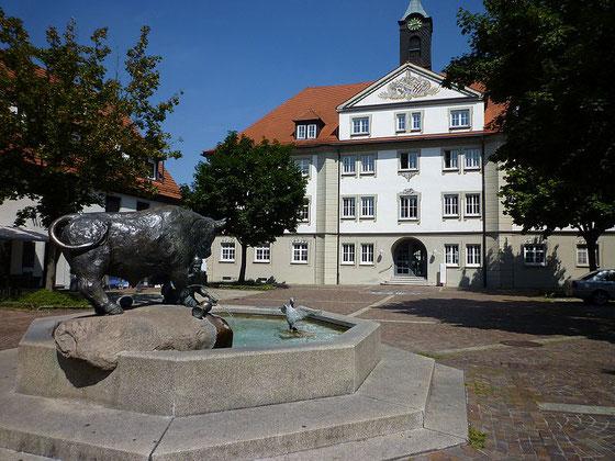 Ochsenhausen Rathaus Ochsenbrunnen