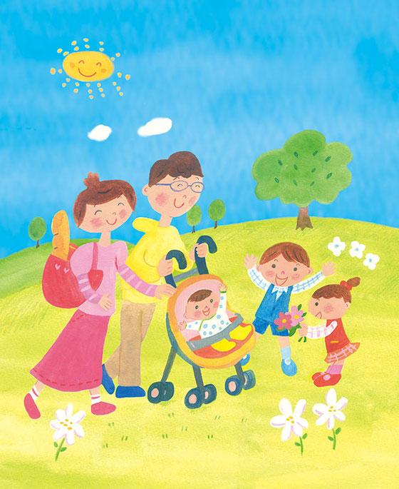 東京法規出版刊「パパとママの子育てハンドブック」イラストを描かせていただきました。