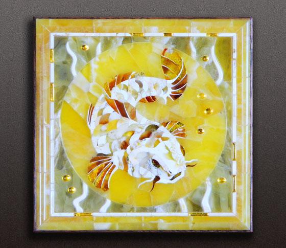 Панно мозаичное из янтаря