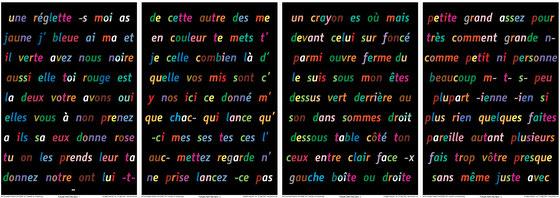 Panneaux de mots 1-4