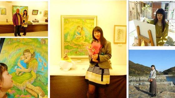 あおい夢工房   YukiTachibana 立花雪 炎と楽園のアート 八木橋オープンギャラリー熊谷8F