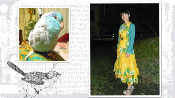 美術家立花雪 YukiTachibana マメルリハのあおいと 炎と楽園のアート 楽園の数え唄