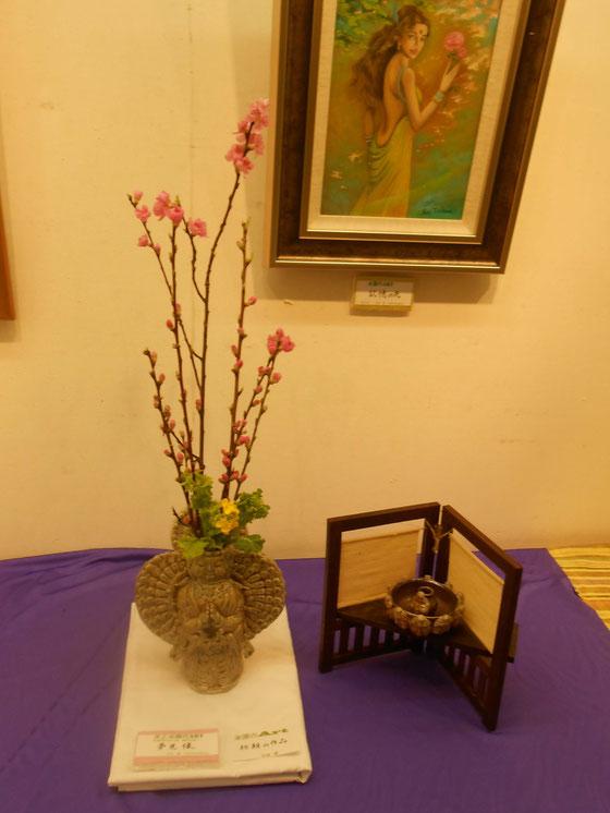 立花雪 炎と楽園のアート 作品展 ~楽々土像~夢見像。 頭に花を活ける、センスのある方がいましたらよろしくお願い申し上げます。