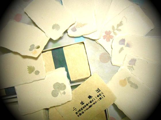 細川紙 小川和紙の名刺 陶芸家 小林夢狂 MukyoKobayashi  あおい夢工房 炎と楽園のアート