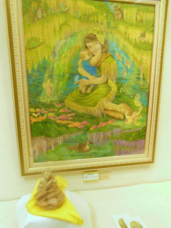 立花雪 炎と楽園のアート 作品展~飛んでるベイビー~ 赤ちゃんが実は幸福のあおい鳥💛
