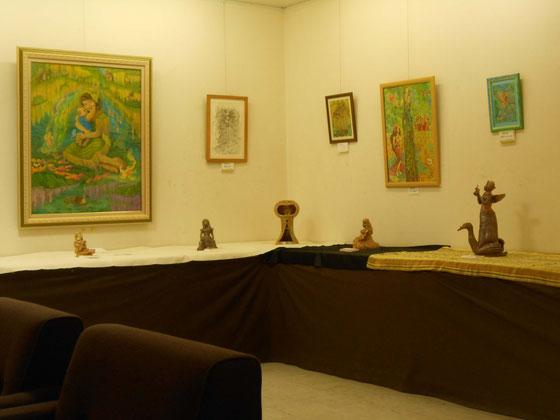 八木橋オープンギャラリー熊谷8F  YukiTachibana 立花雪 炎と楽園のアート 作品展