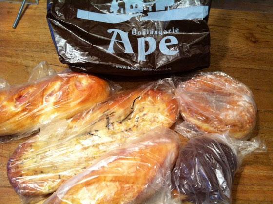 初めて食べるパン屋さんのパン! どれも超美味かったんすけど! 山崎さん、いつもありがとうございます。