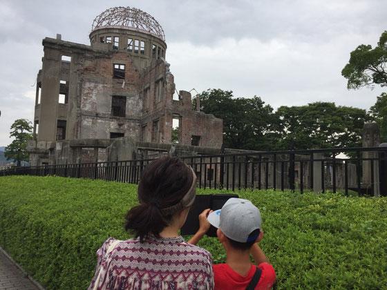 三日目旅行最終日! 息子さんがこの旅行で一番の目的にしていた「原爆ドーム」&「平和記念資料館」見学♪