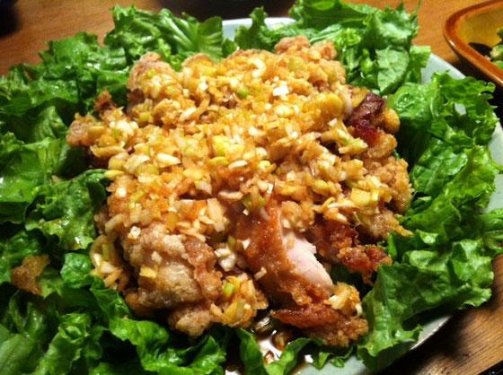 鶏の香味ソースがけ、、超まいう~! 最近の奥さん料理、、天然もあるけどレベル上がってきたような、www