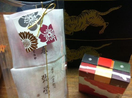 でこれは虎屋の羊羹&モナカ 内田さん片岡さんありがとうございました。
