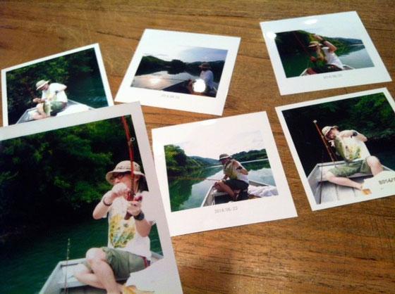 この間のバス釣りのとき撮った写真を現像して持って来てくれた! 西岡くんありがとね~♪
