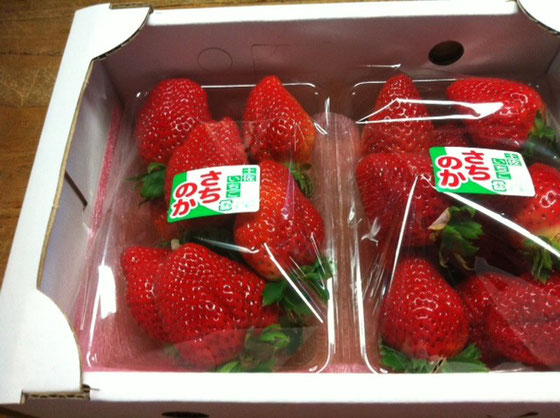イチゴの差し入れ~♪ で家に帰りに出されたイチゴは、4つ、、、、それが最後の4つでした(汗)、。 あんなにあったのに!(滝汗) 山崎さんいつもありがとうございますw