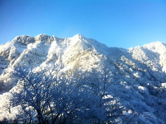 今年一発目のブログなんで改めまして、「明けましておめでとうございます。今年もよろしくお願いいたします♪」皆さんはどのように過ごしてましたかね~? 僕は今年も行ってきました! てか毎年なんで、お客様にも「今年も山登り?」って何人に言われたことかwww 今年も石鎚山に、、とりあえず後2年。息子さんが小学生の間は続けようかと思ってます。 今年の石鎚は、雪が超少なくて2ノ鎖まではアイゼン無くても行けそうなくらい!