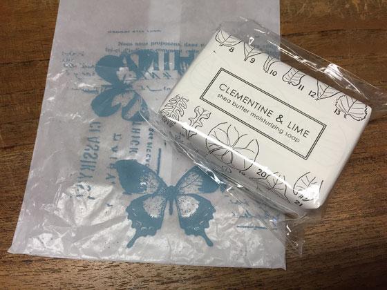 と、「フォーミュラリー55」の石鹸も頂いた! ヤバいくらいいい匂いなんすけど! 置いとくだけでもいい匂い♡ 普光江さんいつもありがとうございます♪
