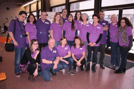 Das Team ASK Liestal (mit Absenzen auf dem Bild) hat wesentlichen zum gelungen Anlass beigetragen