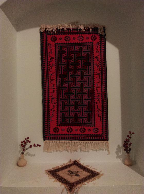Het kleedje in ons verblijf in Kashan