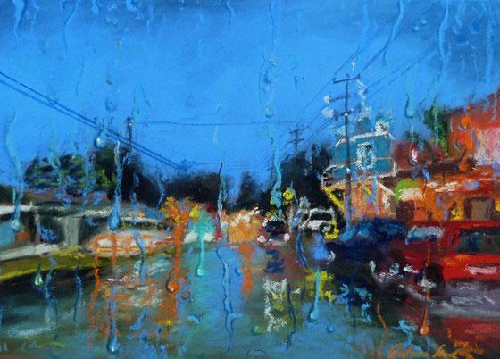"""Rain in Paia"",Pastell"