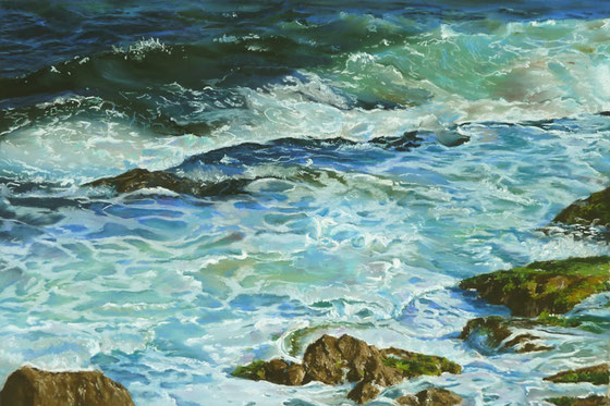 """Turquoise surf"" Pastell"