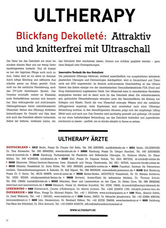 Ultherapy Hamburg, Ultherapie