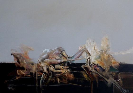 Procréation Acrylique sur toile 80cmx120cm