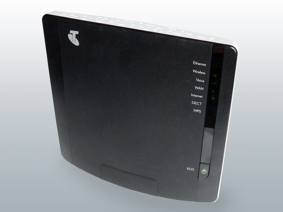 A domestic modem Wi-Fi router
