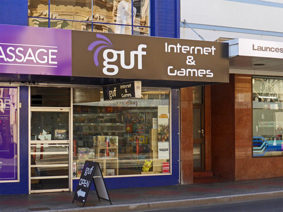 guf internet café in Launceston, Tasmania