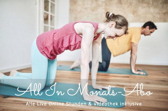 Dein Pilates & Yoga Studio zu Hause mit Live Stunden & Videothek