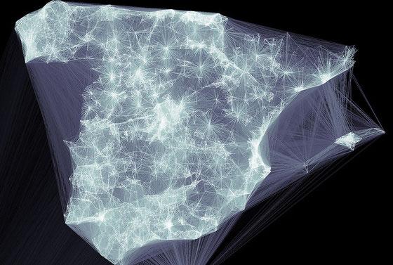 Mapa de conexiones de Tuenti