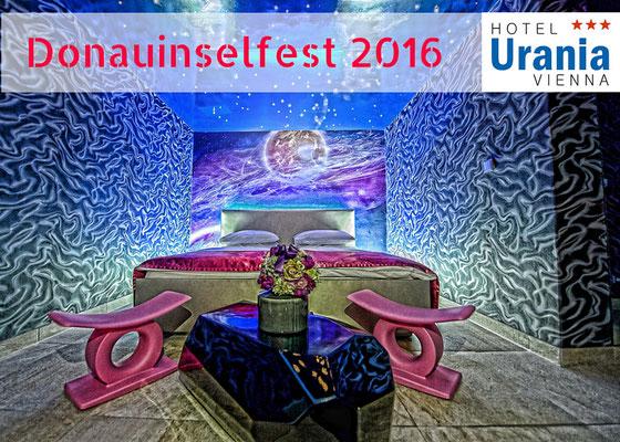 Das größte Open-Air Festival Europas - Donauinselfest 2016 Besucher Günstig Hotel buchen, Empfehlung Hotel Urania, gute Bewertung