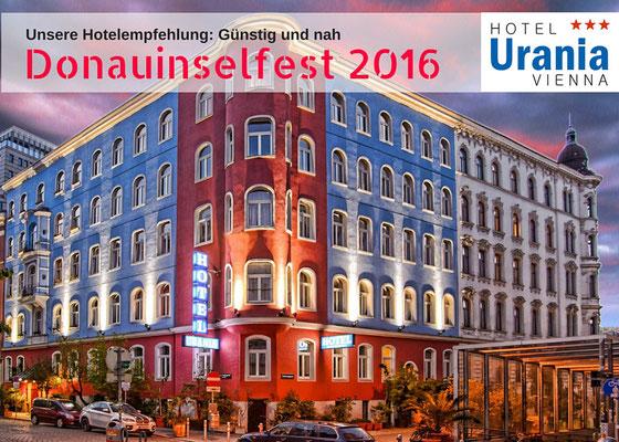 Größte Open-Air Festival Europas - Donauinselfest 2016 #dif16. Günstig Hotel buchen, Empfehlung Hotel Urania, gute Bewertung