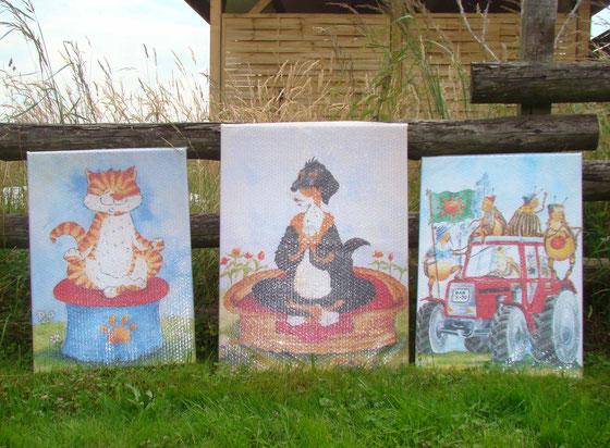 Die Illustrationen und Cartoons von Clara gibt es jetzt gedruckt auf Leinwand
