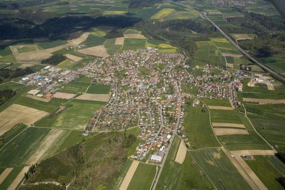 Luftaufnahme von Villingendorf aus westlicher Richtung