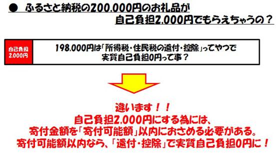 自己負担2,000円で何でも貰える?