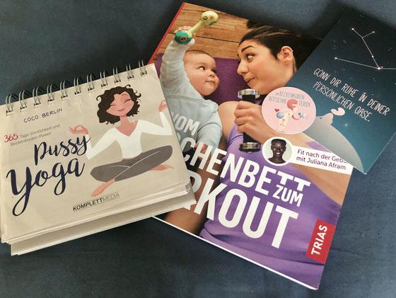 App, Kalender, Buch: Meine drei Beckenboden-Lieblinge – MOMazing – Das Mama Yoga Love Mag