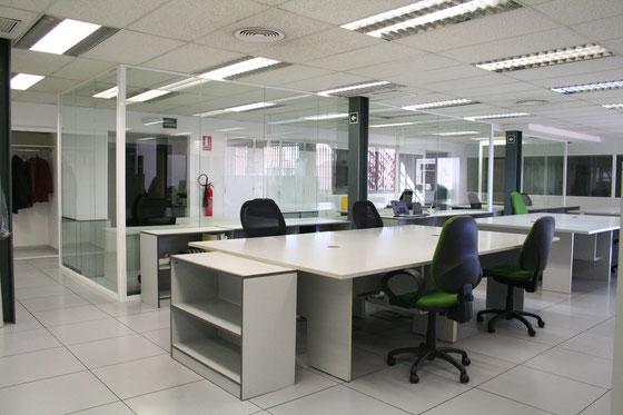 Vista general centro de coworking