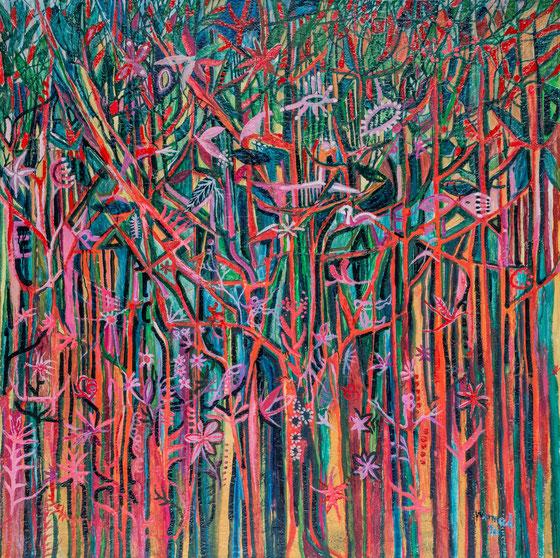 Blumenwald, 2016 (155 x 155 cm)