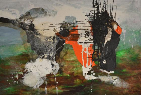 Unter Dampf, 2003 (Öl auf Leinwand, 130 x 180 cm)