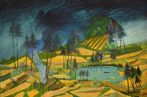 Kornfelder (Öl auf Leinwand 2016) 120 x 180