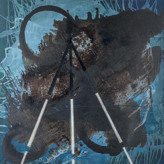 Stativ im All, 2008 (165 x 165 cm)